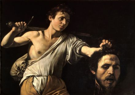 Caravaggio, Michelangelo Merisi da: David with the Head of Goliath. Fine Art Print/Poster. Sizes: A4/A3/A2/A1 (004249)